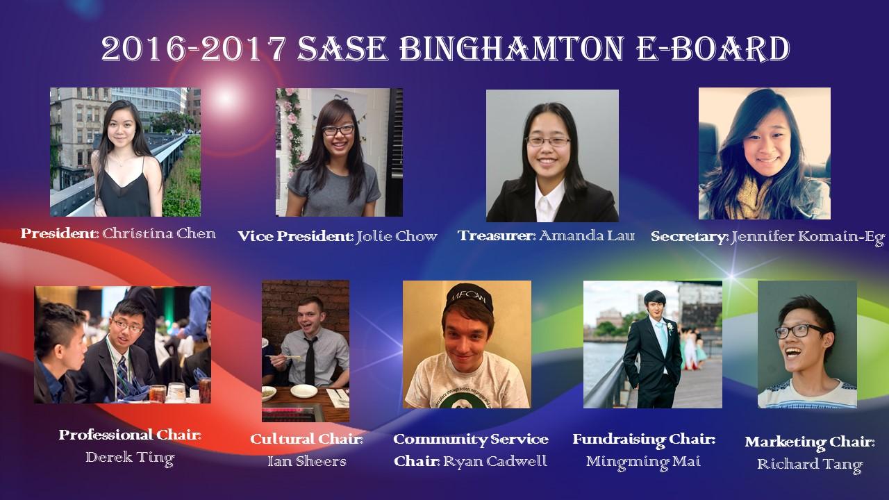 NEW 2016-2017 SASE BINGHAMTON EBOARD